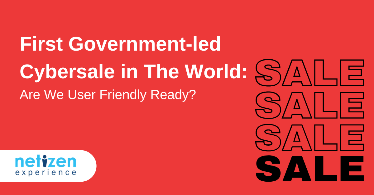 First Government-led Cybersale in The World Are We User Friendly Ready
