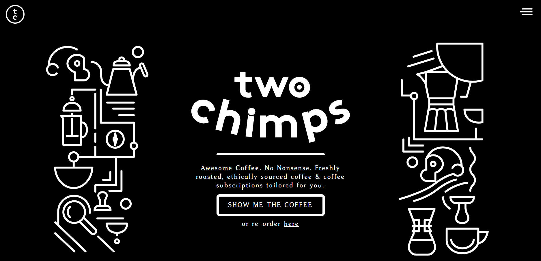 Coffee website - dark mode