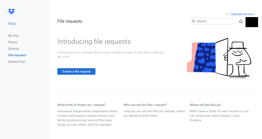 Dropbox user experience - speakeasy effect