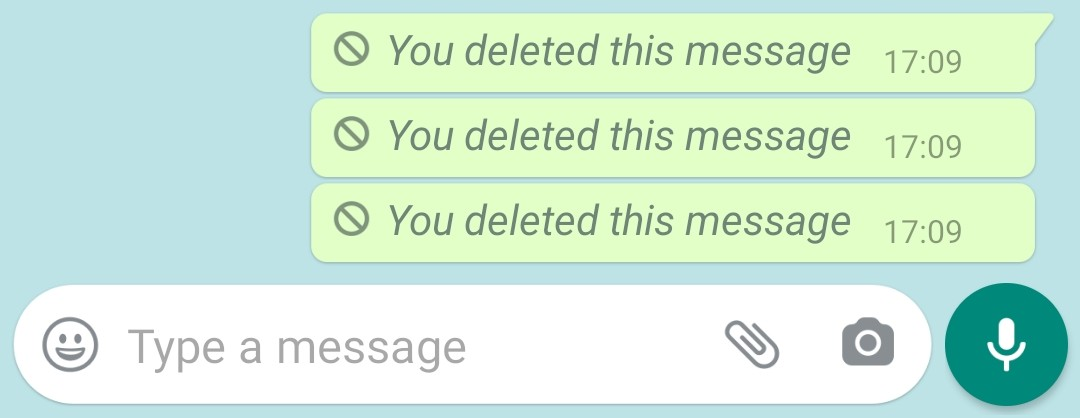 UX Design Fail - Deleted Messages Notification