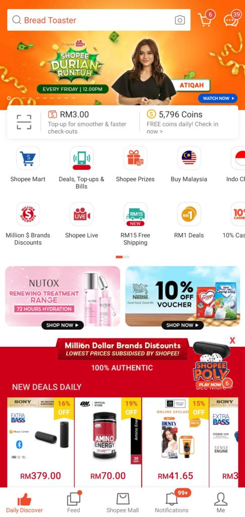 Shopee mobile user experience